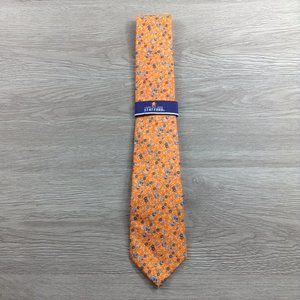 Stafford Orange Floral Tie